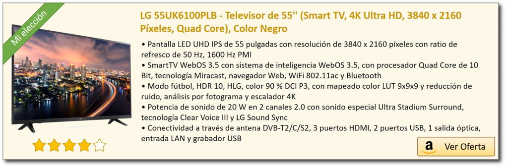 LG TV 55UK6100PLB oferta