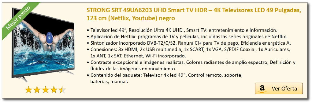 Strong TV SRT 49UA6203 oferta