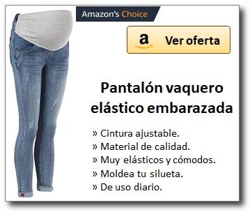 AMAZON_Pantalón vaquero eslástico embarazada